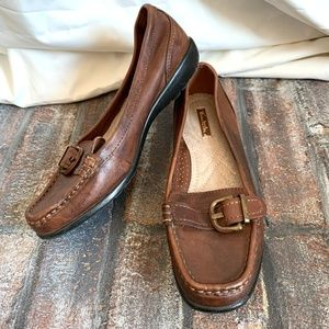 THOM MCAN Brown GWYN Leather Loafers Shoes ~ 6.5 W